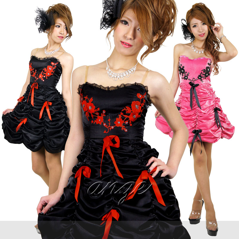 キャバドレス/薔薇くしゅ姫ショートドレス